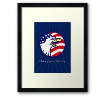 Thinking of You on Patriot Day Card Framed Print