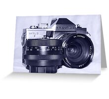 Retro SLR Film Camera Greeting Card