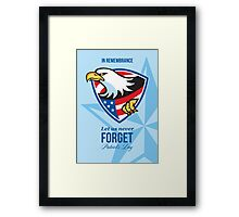 In Remembrance Let Us Never Forget Patriots Day Poster Framed Print