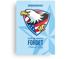 In Remembrance Let Us Never Forget Patriots Day Poster Metal Print