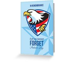 In Remembrance Let Us Never Forget Patriots Day Poster Greeting Card