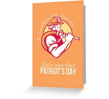 Fireman Let Us Never Forget Patriot Day Poster Greeting Card