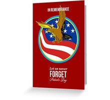 In Remembrance Patriots Day Retro Poster Greeting Card