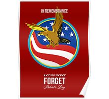 In Remembrance Patriots Day Retro Poster Poster