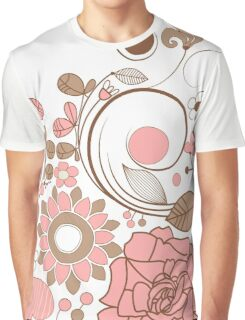 Cute Pink Floral Graphic T-Shirt