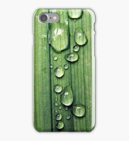 Macro Water Drop Plant iPhone Case/Skin