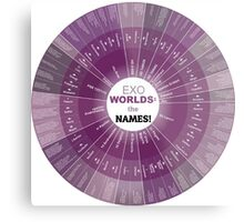 ExoPlanets and Star Name Chart! Metal Print
