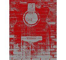 Graffiti Printed Guitar On Wall Photographic Print