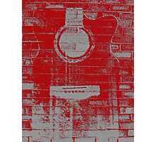 Graffiti Printed Guitar On Wall Photographic Print