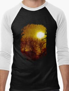 """And The Sky Melted"" dark surrealism Men's Baseball ¾ T-Shirt"