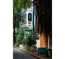 San Juan, Puerto Rico - Gorgeous Caribbean Colors and Flora Photographic Print