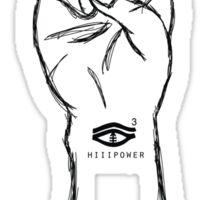 HiiiPOWER (Hand Version / Black) Sticker