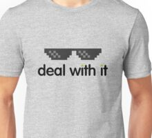 deal with it (black text) Unisex T-Shirt