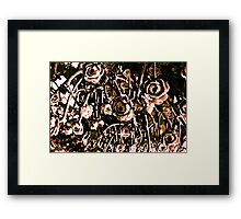 RED ARMY FLOWERS UPSIDE DOWN!!! Flowers Framed Print