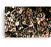 RED ARMY FLOWERS UPSIDE DOWN!!! Flowers Canvas Print