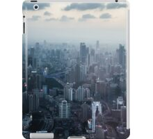 Crisp blue Shanghai city view iPad Case/Skin