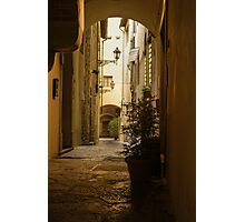 Wandering Around the Lanes and Alleys of Florence, Italy Photographic Print