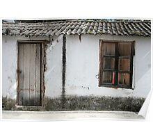 White Window and Door Poster