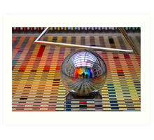 A Sphere, Lines and Colours Art Print