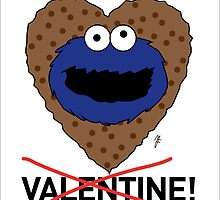 COOKIE MONSTER VALENTINE'S CARD 2 by mjfouldes