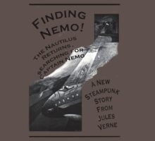 Finding Nemo, Jules Vernes New Steampunk Book One Piece - Short Sleeve