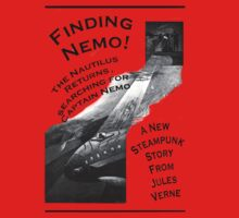 Finding Nemo, Jules Vernes New Steampunk Book Kids Tee