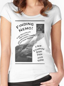 Finding Nemo, Jules Vernes New Steampunk Book Women's Fitted Scoop T-Shirt