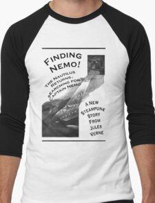Finding Nemo, Jules Vernes New Steampunk Book Men's Baseball ¾ T-Shirt