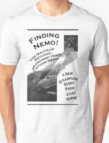 Finding Nemo, Jules Vernes New Steampunk Book T-Shirt