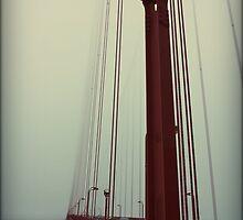 Vintage Golden Gate Bridge, San Fransisco  by Chris Roberts
