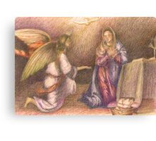 Mary and the Angel. Canvas Print