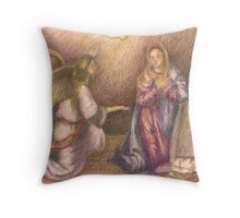 Mary and the Angel. Throw Pillow