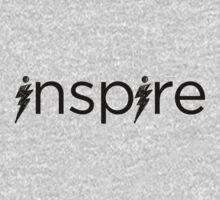Black Inspire Logo Baby Tee