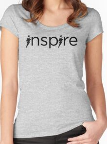 Black Inspire Logo Women's Fitted Scoop T-Shirt