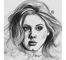 Adele portrait - Inktober 2015 Photographic Print