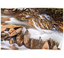 Rocks and Whitewater Poster