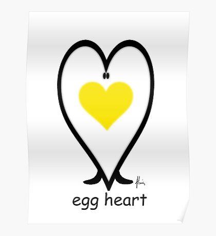 egg heart Poster