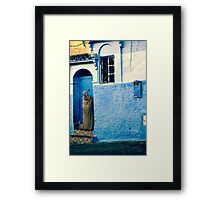 THE COLOUR OF HER DRESS IS PERFECT WITH THE REST OF THE PLACE!!! Morocco Framed Print