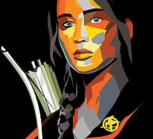 Katniss Everdeen Color Portrait by lizswezey