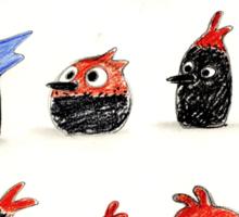 Woodpecker Doodles Sticker