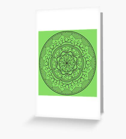 Leafy Mandala Greeting Card