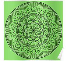 Leafy Mandala Poster