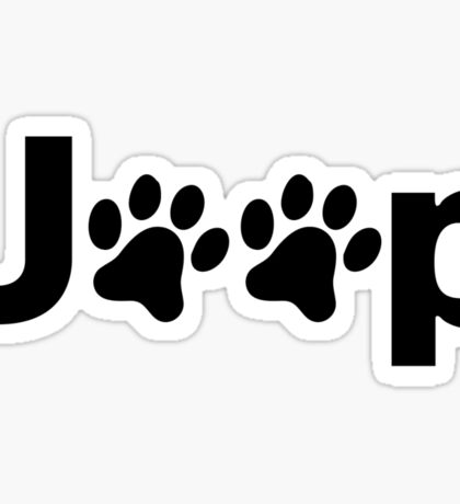Jeep Paws Sticker