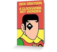 A Clockwork Boy Wonder Greeting Card