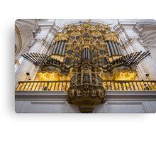 Golden Pipe Organ Canvas Print