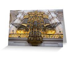 Golden Pipe Organ Greeting Card