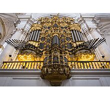 Golden Pipe Organ Photographic Print