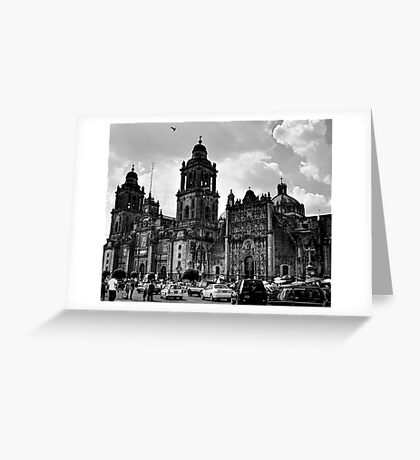 Zócalo Cathedral Greeting Card