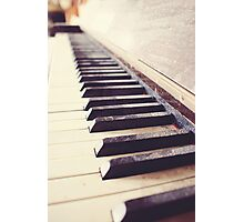 Vintage piano Photographic Print