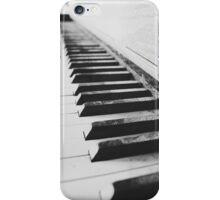 Vintage piano - black & white iPhone Case/Skin